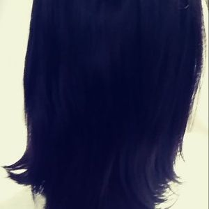 HUMAN HAIR DARK BROWN WIG LACE FRONT CLIP ON NWOT​
